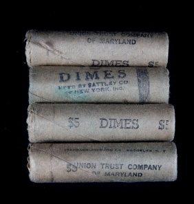 [us] 4 Bu Rolls Roosevelt Dimes