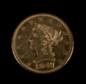 [us] 1847 Gold Eagle