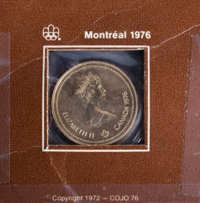 [canada] Montreal Olympics Gold $100, 1976