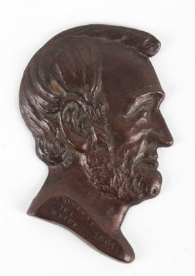 Lincoln Presidential Campaign Plaque, 1864