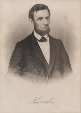Memorial Portrait Of Abraham Lincoln, 1865