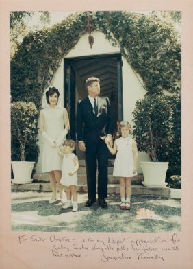 [autograph] Jacqueline Kennedy To Sister Christine