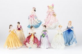 Eight Royal Doulton China Figures