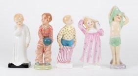Five Royal Doulton Bedtime Theme China Figures