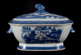 Chinese Export Canton Soup Tureen