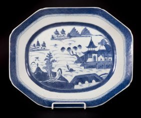 Large Chinese Export Canton Platter