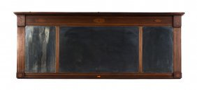 Federal Style Inlaid Mahogany Overmantel Mirror
