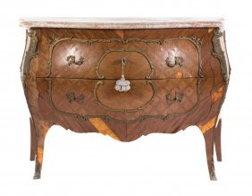Louis Xv Style Marquetry Inlaid Commode