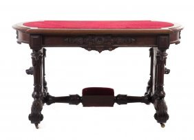 American Renaissance Revival Walnut Desk