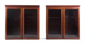 Pair Of Danish Modern Rosewood Cabinets