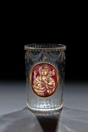 A Beaker With Saint Rosalia Johann Joseph Mildner,