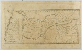 18th Century Map Of Tennessee With Native American Land