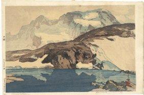 """Yoshida Hiroshi Woodblock, """"Breithorn"""""""