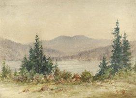 TN Landscape Signed Quist, Attrib. T. Campbell