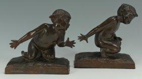 Edith Barretto Parsons, Bronze Children Bookends