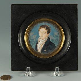 German School Portrait Miniature Of Carl Storck