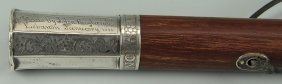 Tennessee Coin Silver Handled Walking Stick