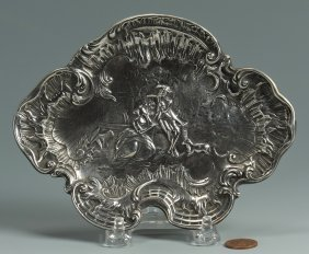 Tiffany And Co. Rococo Style Silver Card Tray