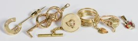Group Of Equestrian Gold Jewelry