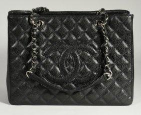 Chanel Grand Shopping Tote, Dark Navy