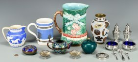 Group Of Collectibles Incl Pottery, Sterling