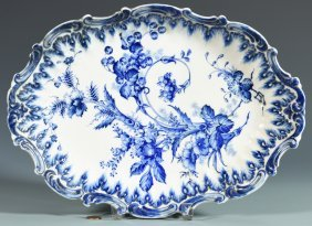 Blue And White Dish, Chinese Or Chinoiserie