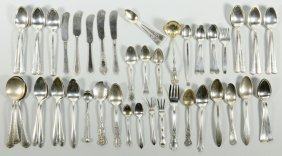 Assorted Sterling Silver Flatware, 52 pcs.