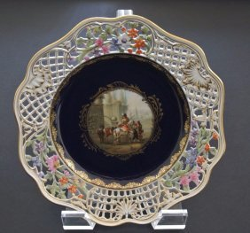 19th Century Reticulated Meissen Plate