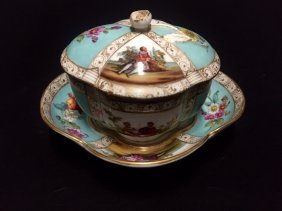 A 19th Century Helena Wolfsohn Lided Cup And Saucer