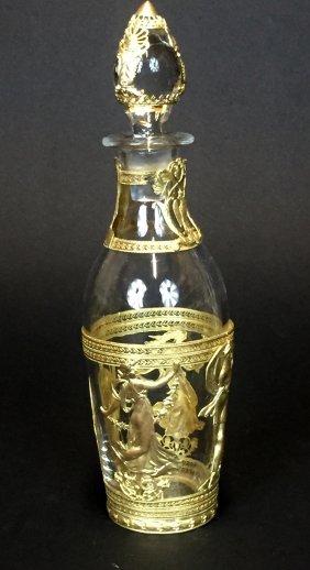 Empire Style Dore Bronze Mounted Perfume Bottle