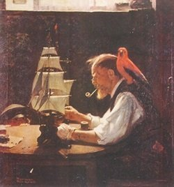 Print Old Sea Captain - Norman Rockwell