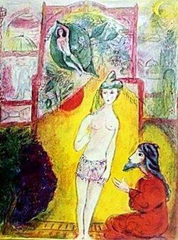 Lithograph By Marc Chagall- Arabian Nights Spadem