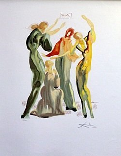Lithograph - La Danse, The Divine Comedy Series -