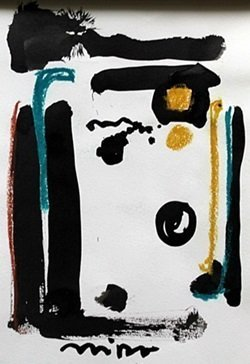 Ink And Pastel Painting On Paper - Signed Miro