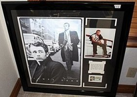 Giclee Photo Of James Dean With Bio And License Ar5638