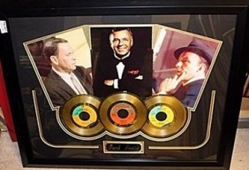 Frank Sinatra Giclee With 3 Gold Albums Ar5568