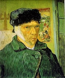 Lithograph Self Portrait With Bandaged Ear - Vincent