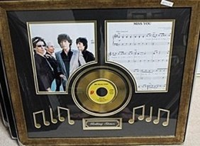 "Rolling Stones ""miss You"" Gold Album Ar5698"