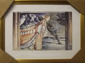 "Lithograph ""set For Romeo & Juliet"" After Salvador"