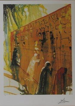 "Lithograph ""wailing Wall"" By Salvador Dali"