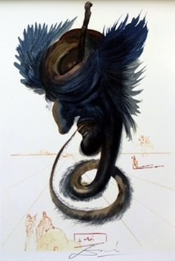 """the Black Cherub - Paradise 20"" By Salvador Dali"
