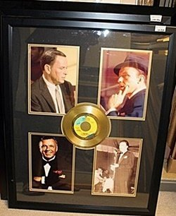 Frank Sinatra Giclee With Gold Album Ar54901