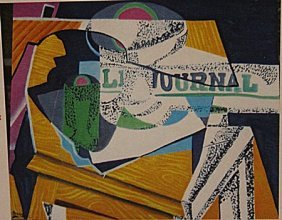 Georges Braque - Table With Newspaper