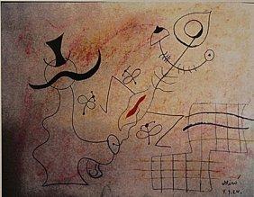 Joan Miro - The Lovers