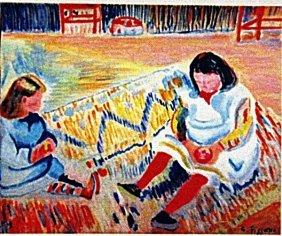 Camille Pissarro - Two Girls