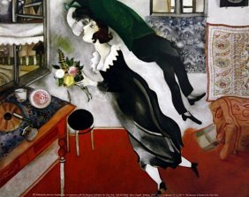 """Print """"birthday"""" After Marc Chagall"""