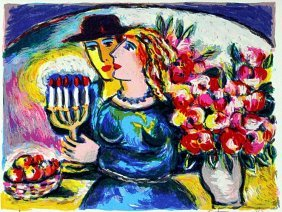 "Serigraph ""shabbat"" After Zamy Steynovitz"