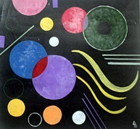 The Circles - Oil Painting On Paper - Wassily Kandinsky