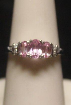 Fancy 14 Kt Pink Sapphire Ring