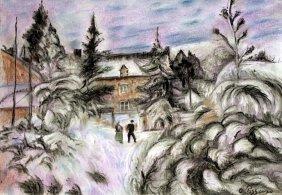 White Frost 1882 - Pastel On Paper - Camille Pissarro